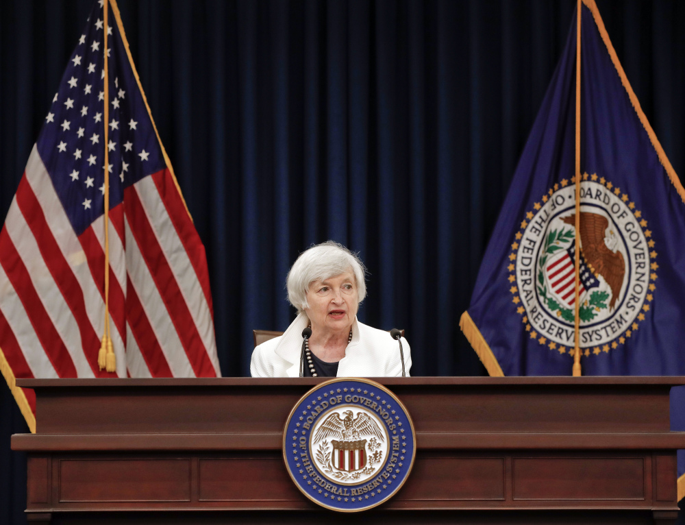 At first, Fed Chair Janet Yellen, above, and other Fed officials pointed to temporary factors as the reason for low inflation, but as the condition persisted, she and other officials are thinking that something more long-lasting may be occurring.