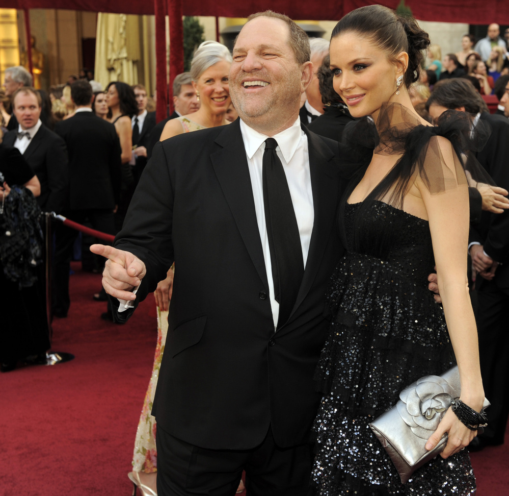 Harvey Weinstein and his wife, Georgina Chapman, arrive at the Academy Awards in 2010. The two are now separated.