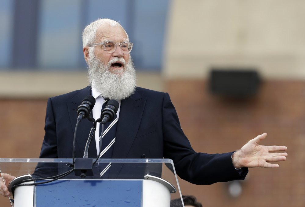 David Letterman was honored Sunday with the Mark Twain Prize for American Humor. Associated Press/Darron Cummings