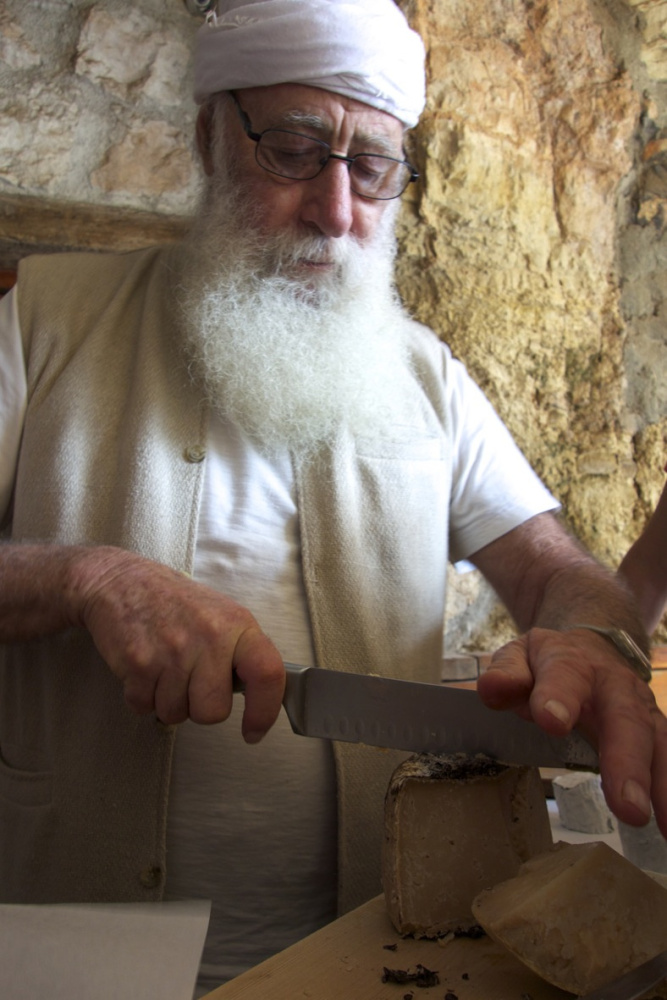 Shay Seltzer, a goat farmer and master cheesemaker near Jerusalem, from