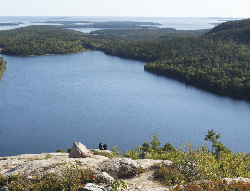 A view of Jordan Pond from South Bubble in Acadia National Park. The view will get more expensive if park entrance fees jump.