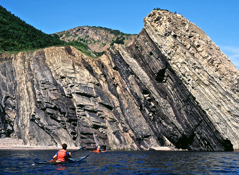 The cliffs near the Northern tip of Cape Breton Island in Nova Scotia were part of a journey in July 1995, one more section covered and one more adventure to remember.
