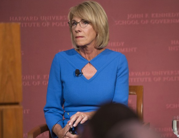 Education Secretary Betsy DeVos is acting on a streamlining directive by offering buyouts to workers in the student-aid arm of her department.