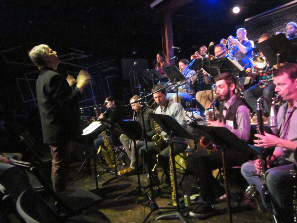 "Frank Carlberg and OurBigBand perform ""Monk Dreams, Hallucinations and Nightmares"" on Friday at Space in Portland."