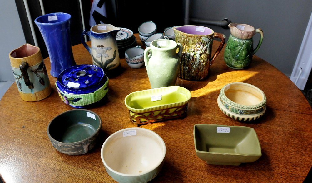 Lunanightday Antiques & Art store offers customers fine furniture, art and bowls and vases at the business on Appleton Street in Waterville.