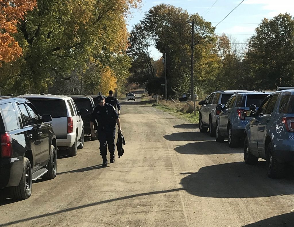 Police took a man into custody man Monday afternoon following a six-hour standoff in Corinna.