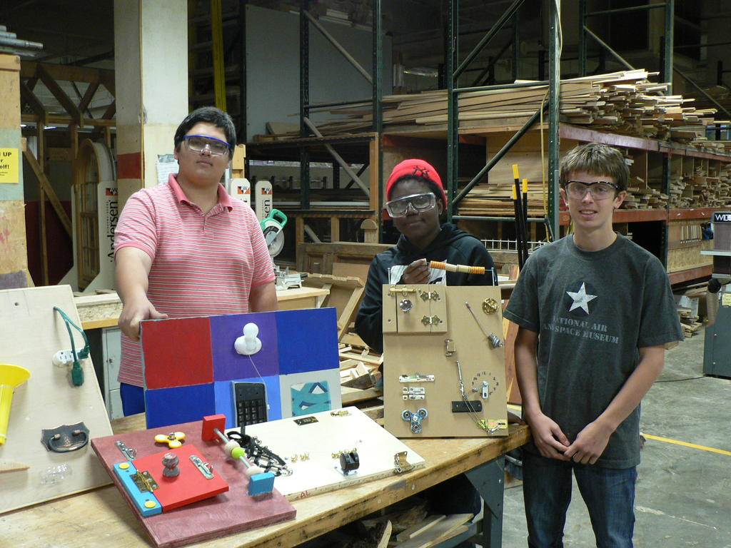 Students In The Woodworking Class At Portland Arts And Technology High School Made Activity Boards For Residents Of Cedars Retirement Community