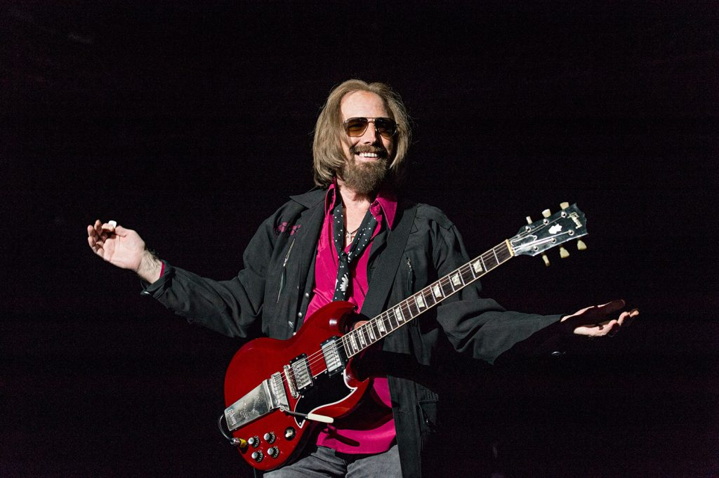 Tom Petty of Tom Petty and the Heartbreakers performs at the Del Mar Racetrack and Fairgrounds on Sept. 17 in San Diego, Calif.