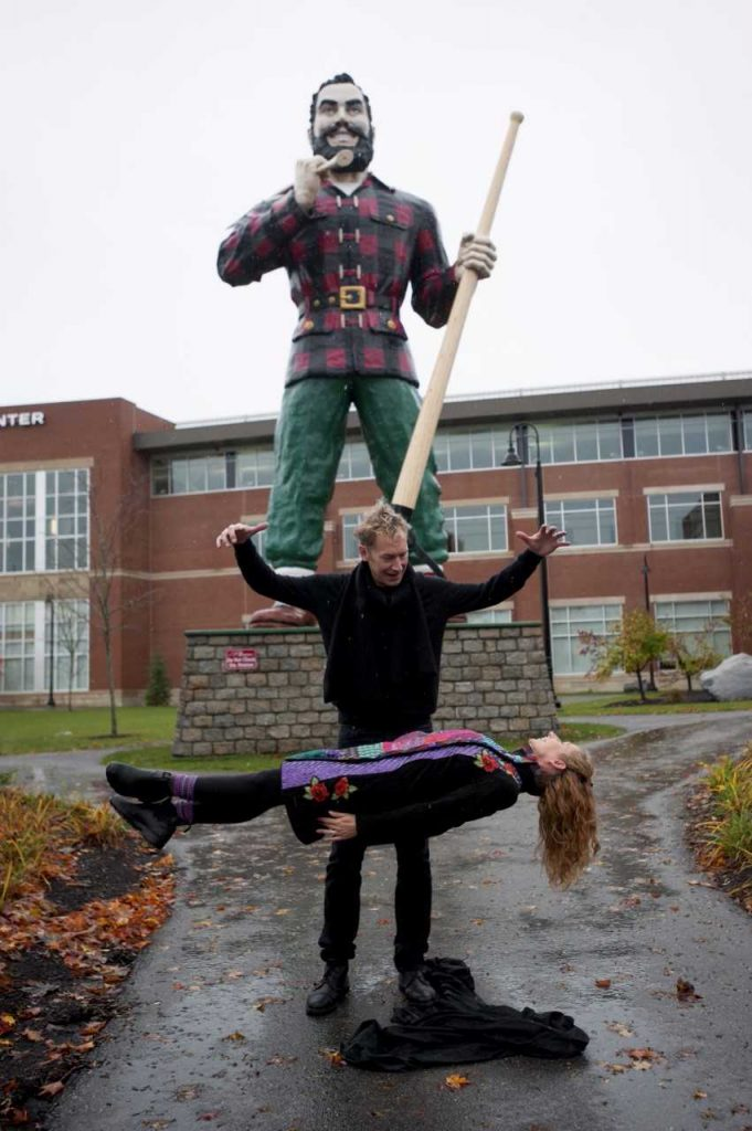 Is Ted Outerbridge levitating his wife and partner Marion Outerbridge? You can find out for yourself at Husson University's Gracie Theatre tonight. Photo courtesy of Husson University