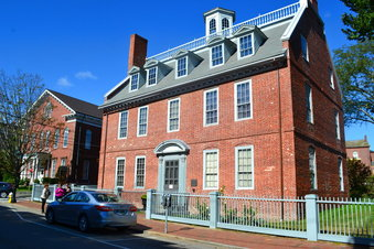 This photo shows the Macphaedris-Warner House in Portsmouth, N.H., that was home to at least eight slaves in the 1700s, including John Jack who would later offer shelter to Ona Judge, a George Washington family slave who escaped to New Hampshire.