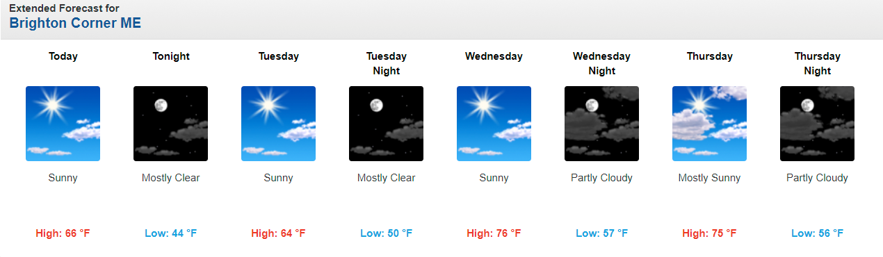 Temperatures could get near 80 well inland Wednesday with mid-70s at the coast.