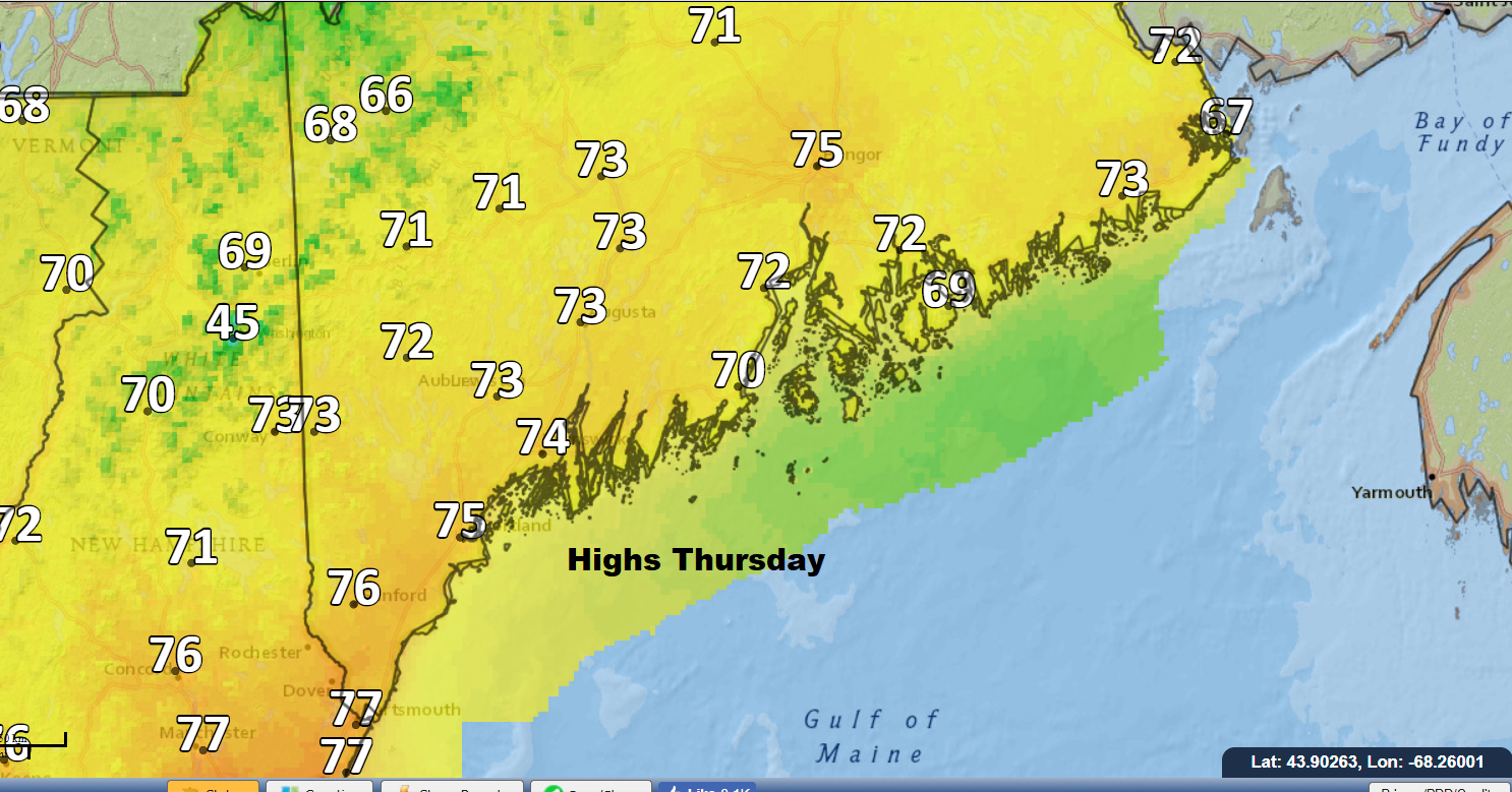 Warm weather continues Thursday.