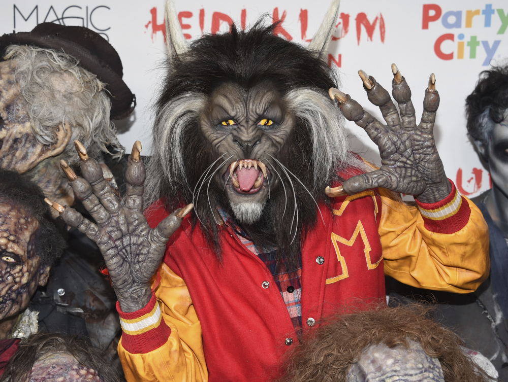 Heidi Klum, dressed as a werewolf from Michael Jackson's