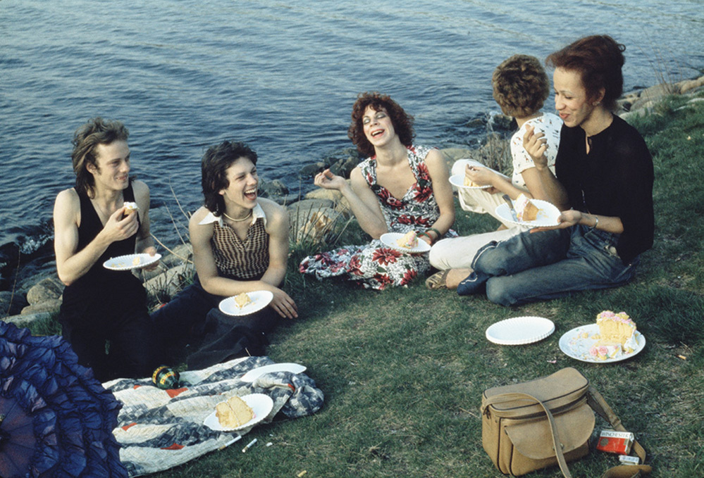 """Picnic on the Esplanade, Boston,"" 1973, silver-dye bleach print, 17  by 21  inches, courtesy of the artist and Matthew Marks Gallery."