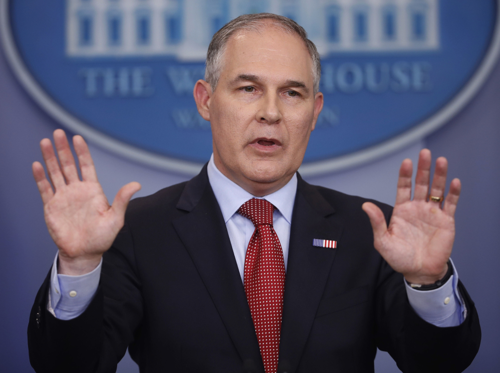 Scott Pruitt will speak before the American Chemistry Council this week. The group has lobbied against stricter regulations for chemical manufacturers.