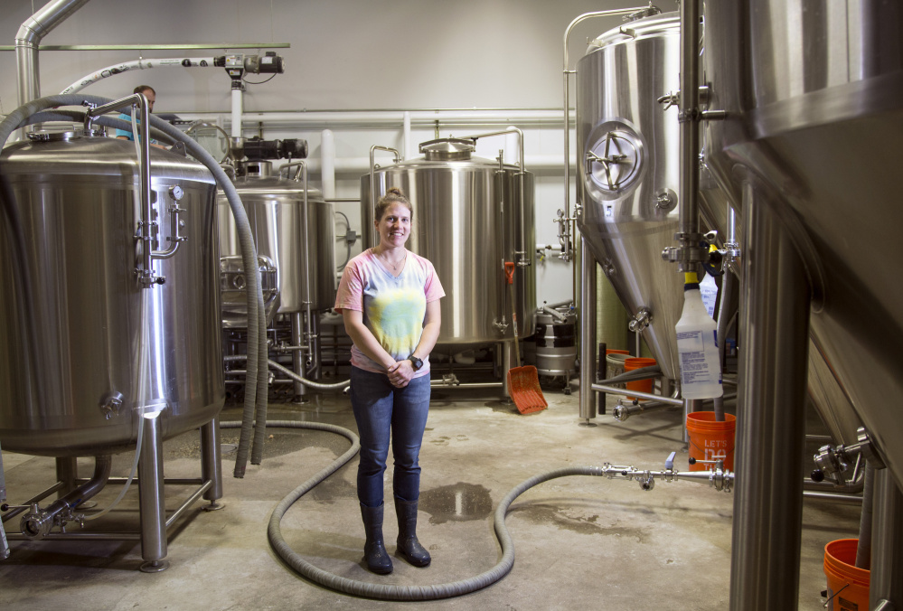 Lisa Kellndorfer oversees quality control at Austin Street Brewery in Portland. At the more than 100 breweries in Maine, only Kellndorfer and Mary Weber at Monhegan Brewing work as head brewers. But a change in consumer demographics could help to alter that imbalance.