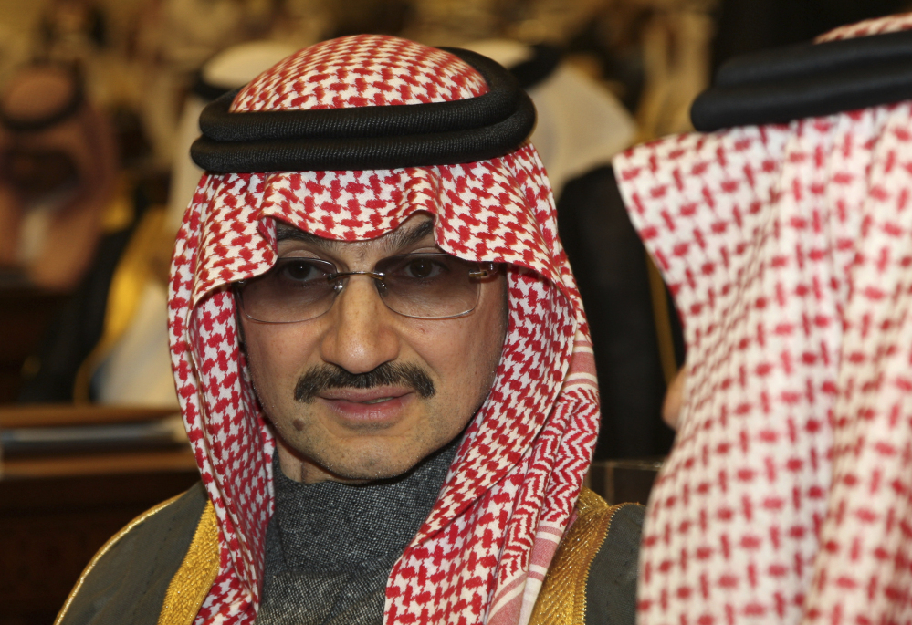 Saudi billionaire Prince Alwaleed bin Talal al-Saud, shown in 2010, reportedly was among those detained overnight Saturday.