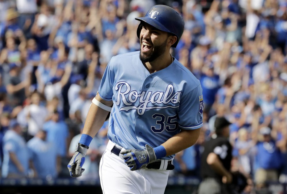 Eric Hosmer wasn't just the heart of the Kansas City Royals when they reached back-to-back World Series, but retained strong numbers when the team slumped. Boston, anyone?