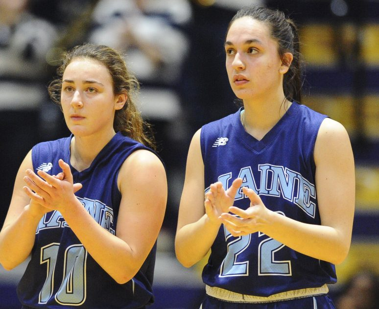 Blanca Millan, right, and Julie Brosseau are among the few returning players for UMaine.