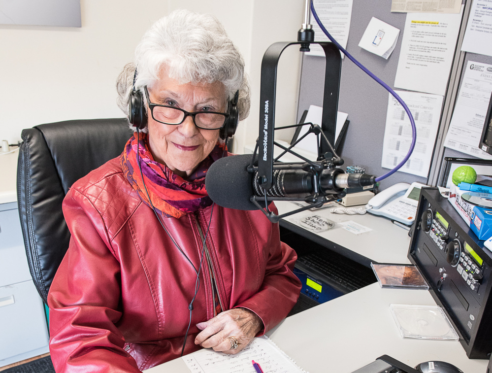 """Connie Cote has been a reliable presence on 105.5 FM/1240 AM each week, doing a show even when she was a state lawmaker. """"The show must go on, no matter what,"""" Cote says."""