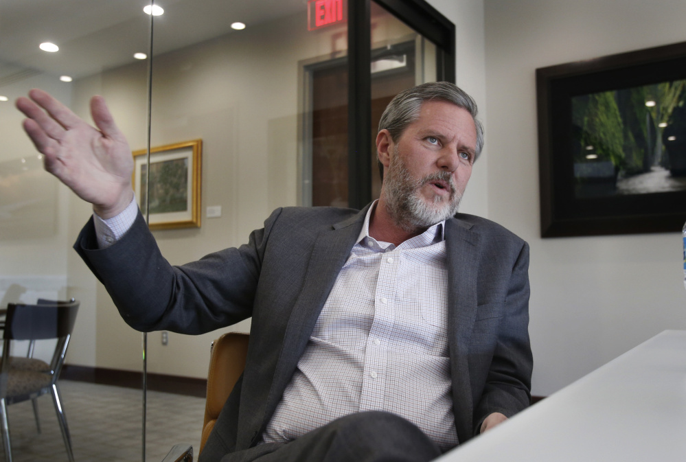 "Liberty University President Jerry Falwell Jr. says support of Roy Moore depends on whom voters see as credible. ""And I believe the judge is telling the truth,"" Falwell said."