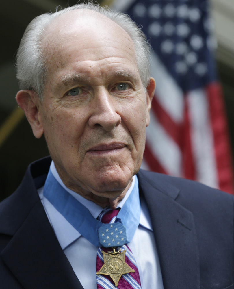 Retired U.S. Navy Capt. Thomas Hudner, who was awarded the Medal of Honor by President Truman, intentionally crashed his plane during the Korean War in 1950 to try to save his wingman Jesse Brown, whose plane had been shot down. Hudner died Monday at age 93.