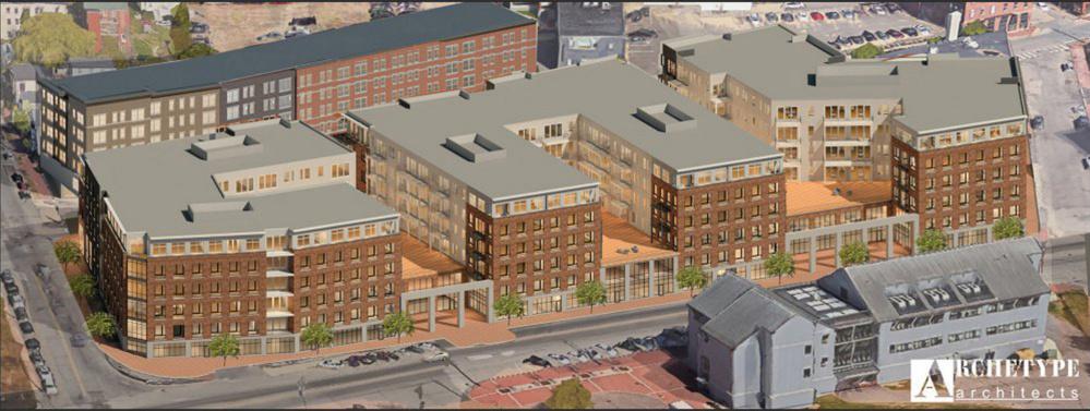 Developers are proposing to build nearly 300 condominium units on the 2.5-acre site at 383 Commercial St., where Rufus Deering Lumber Co. used to operate.