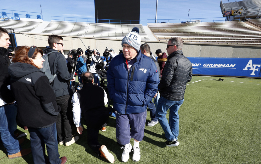 Instead of heading home after a win at Denver, Patriots Coach Bill Belichick took his team to Air Force Academy, Colorado, to prepare to play 7,200 feet above sea level in Mexico City.