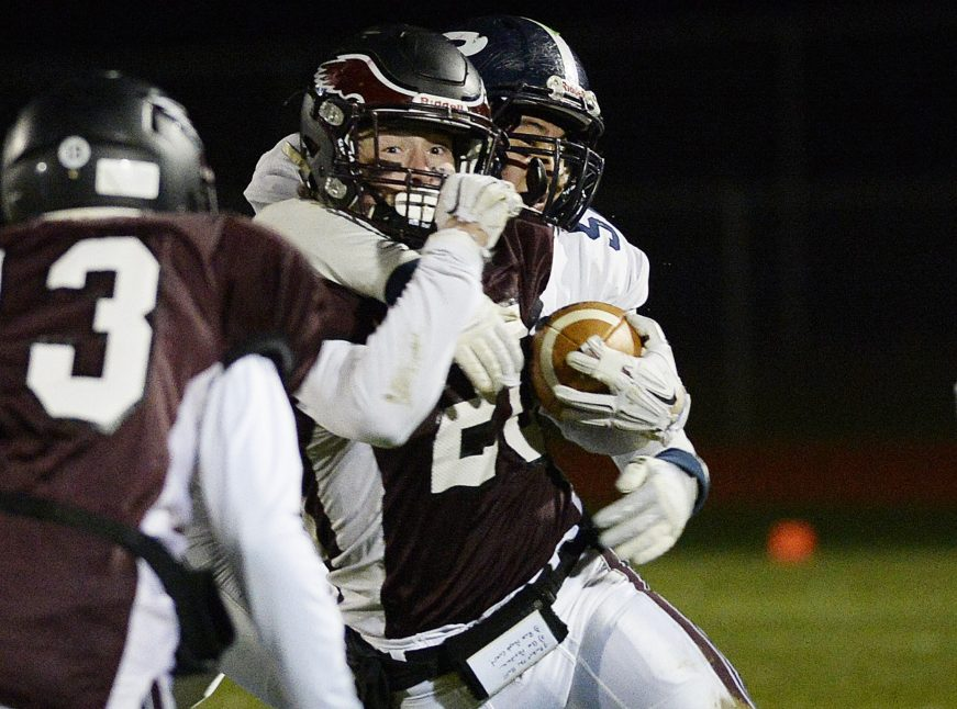 Defensive back? Done it. Defensive end? Done it. And now do-everything Tanner Bernier of Windham is tough to bring down as the quarterback of a team in the Class A state final.