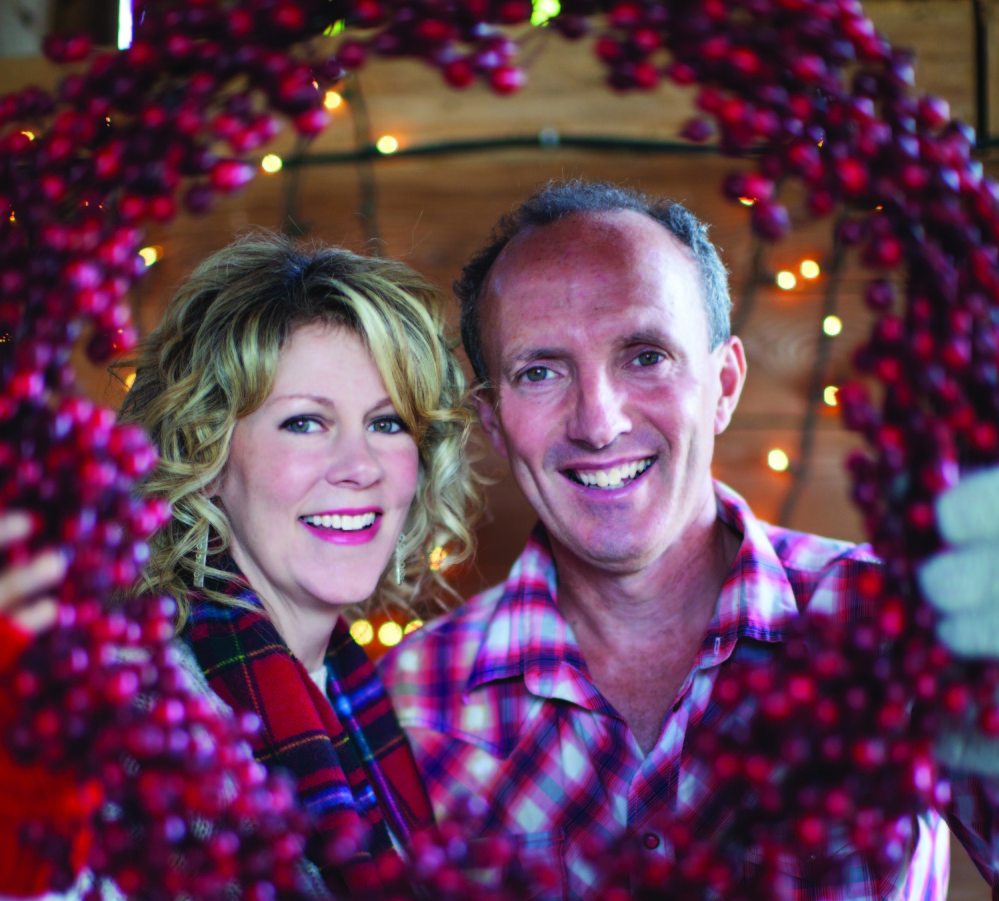 Natalie MacMaster and Donnell Leahy perform on Dec. 6 at the Camden Opera House.