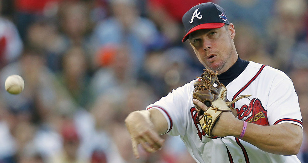 Chipper Jones, an eight-time All-Star for the Braves, is one of 19 first-time candidates up for election to the Hall of Fame.