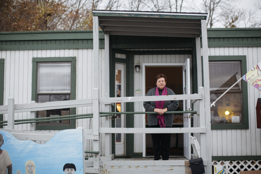 Merrie Allen is a longtime social worker who runs the West End Neighborhood Resource Hub in South Portland. Allen said her favorite thing about her job is the connections she has made with the people she serves.