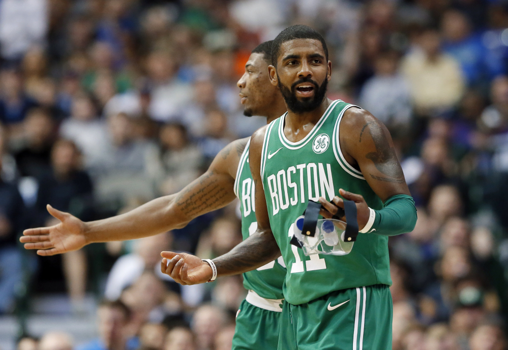 Kyrie Irving had 47 points Monday in Boston's 16th straight win, seven in the fourth quarter and 10 in overtime.