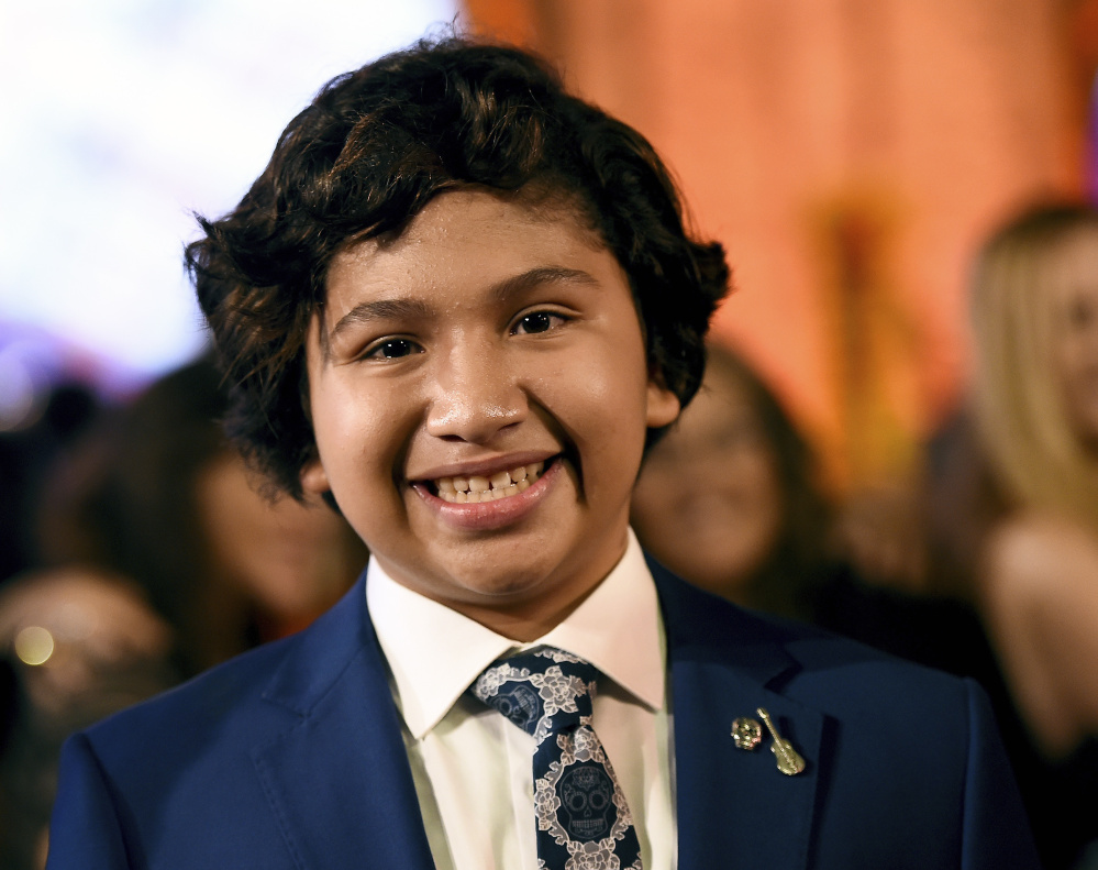 "Anthony Gonzalez, who voices the character of Miguel in the animated film ""Coco,"" arrives at the premiere of the film in Los Angeles."