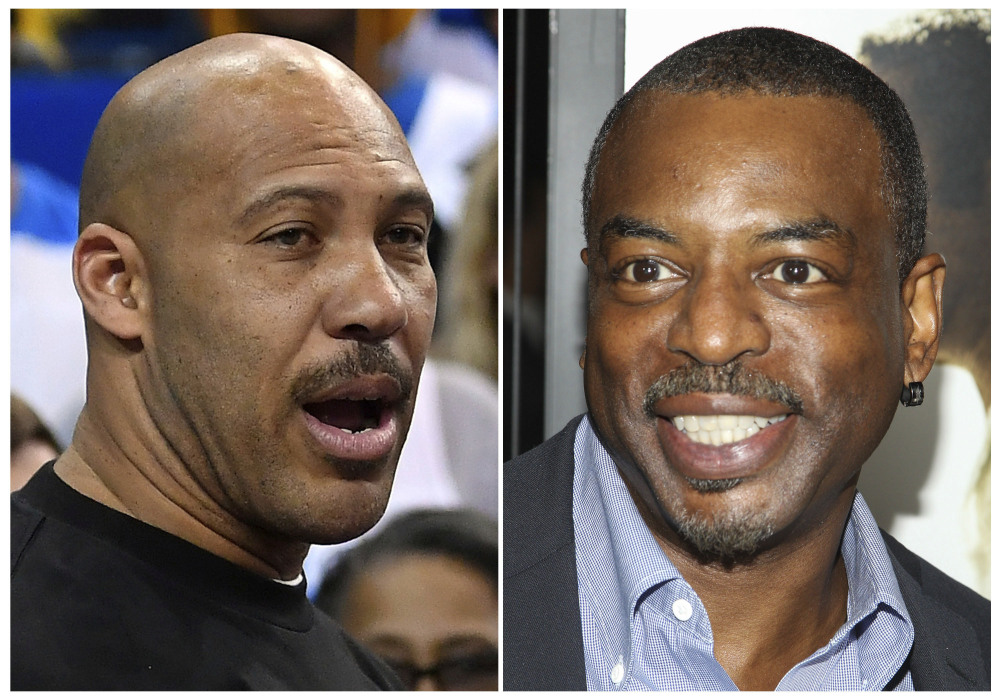 LaVar Ball, left, the father of UCLA basketball player LiAngelo Ball, has been criticized by President Trump, and actor LeVar Burton, right, has been attacked on Twitter by people who confused him with Ball.