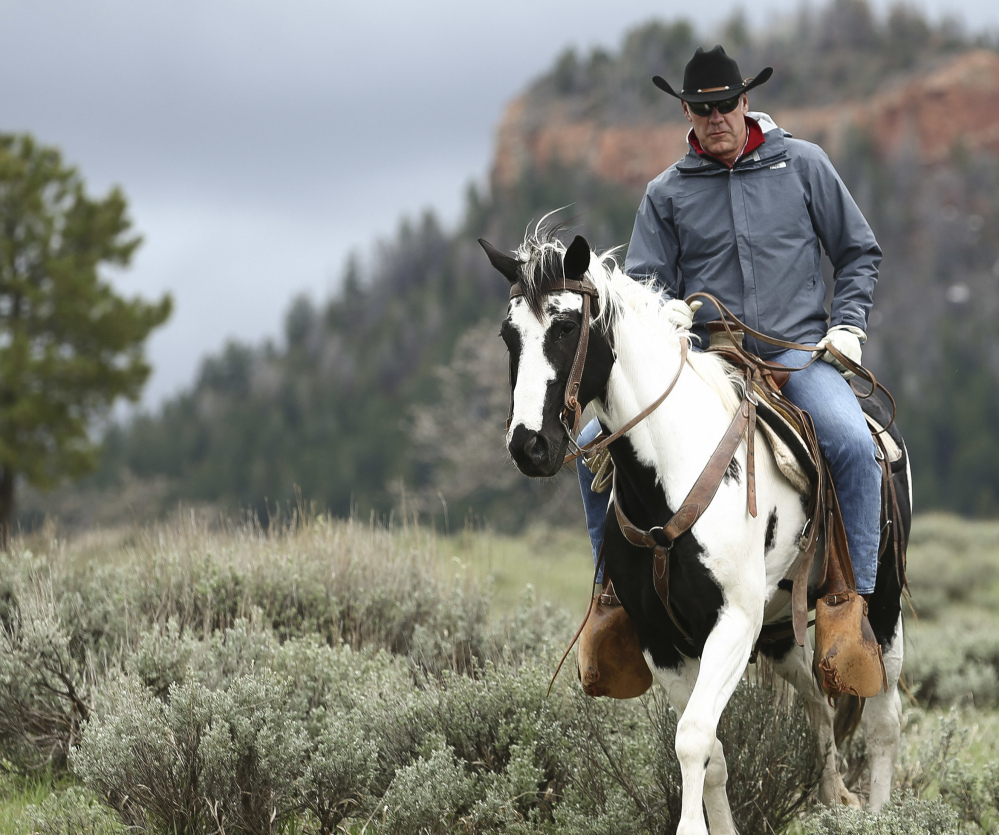 Interior Secretary Ryan Zinke tours Bears Ears National Monument in Blanding, Utah, in May.