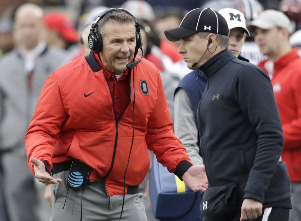 He can plead, but Ohio State Coach Urban Meyer and the Buckeyes have a slim shot to reach the college football playoff, especially with a 55-24 loss at Iowa. A win over unbeaten Wisconsin is the first step.