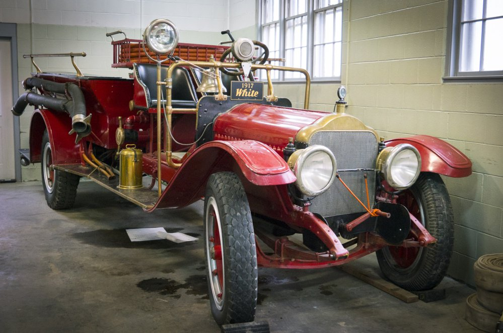 This 1917 White-Kress firetruck was donated to the city by Tom Maclay of Marshfield, Vt. The Augusta Fire Department will be launching a fundraising effort to restore it.