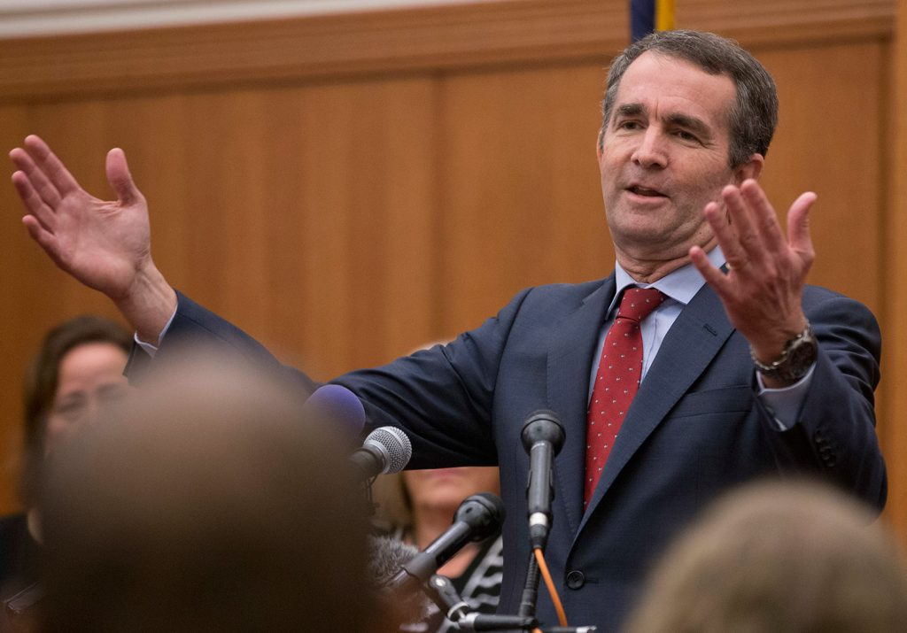 Virginia's Democratic Gov.-elect, Ralph Northam, seen speaking Wednesday in Richmond, got a big boost in the election from voters who are concerned about health care.