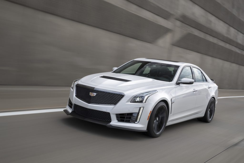 The 2018 Cadillac CTS-V's relatively mild-mannered exterior hides a supercharged V-8 engine that makes 640 horsepower and 640-pound feet of torque.