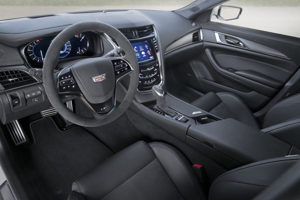 The 2018 Cadillac CTS-V is moderately styled inside and out but massive under the hood.