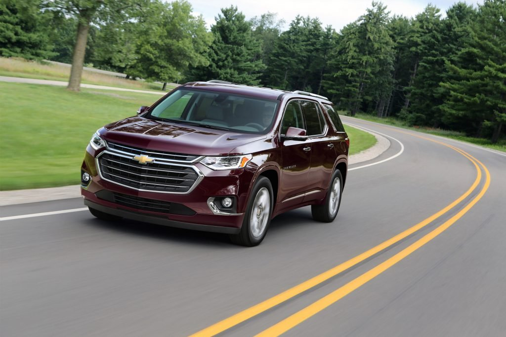 The 2018 Chevy Traverse is designed to look more like the full-size utilitarian giants known as the Suburban and Tahoe.