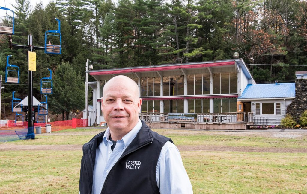 Lost Valley's new general manager John Herrick is overseeing many improvements and upgrades to the facility, including a new kitchen in the base lodge.