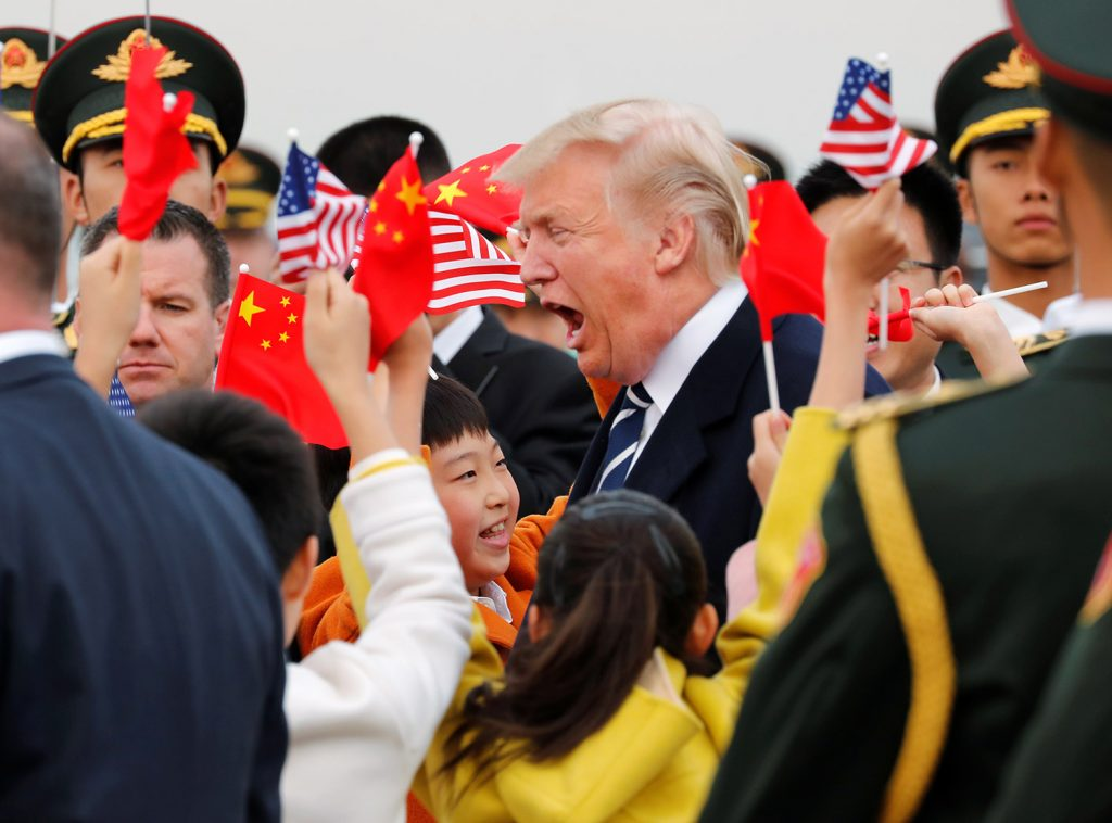 China Gives President Trump Unforgettable Welcome Photo