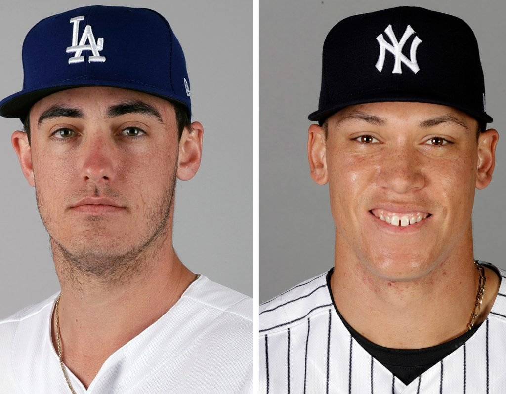 The Dodgers' Cody Bellinger, left, and the Yankees' Aaron Judge were unanimous choices as rookies of the year.