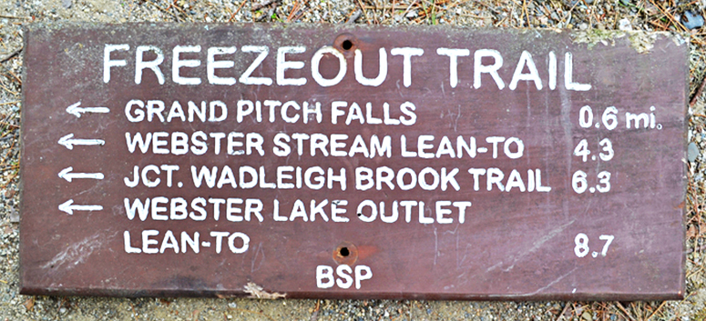 "The auction website points out that this trail sign, measuring 27 by 11 inches, has ""slight animal damage to lower and upper edges."""