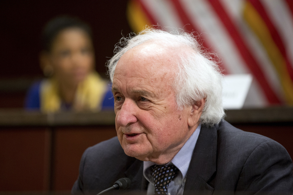 Rep. Sander Levin, D-Mich. speaks during a House Democratic Steering and Policy Committee hearing on the Flint water crisis on Capitol Hill in Washington. Levin who has served in Congress for nearly 35 years, will not seek re-election to a 19th term.