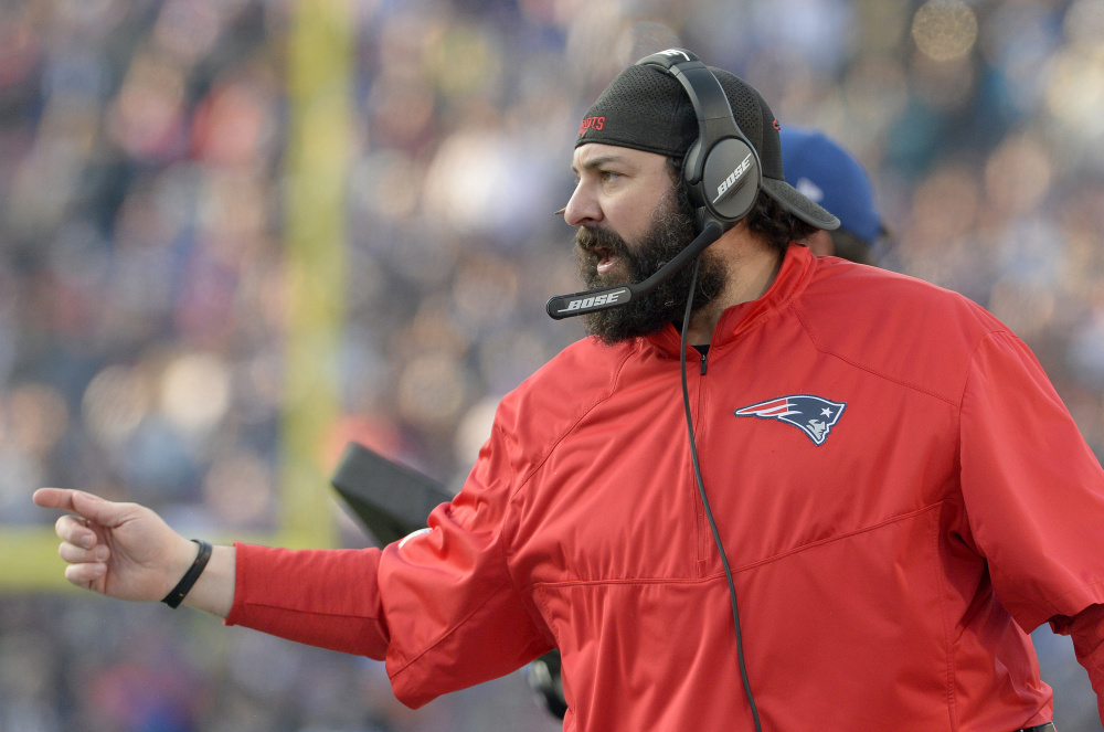 Patriots defensive coordinator Matt Patricia has never been a head coach, but his work with New England's defense could make him attractive to the Giants.