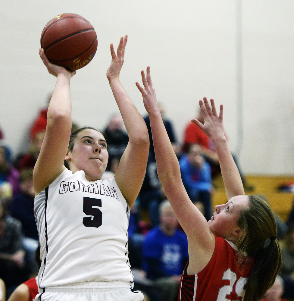 Mackenzie Holmes, one of the state's best players, will be the key as Gorham seeks to build on its 42-game winning streak.