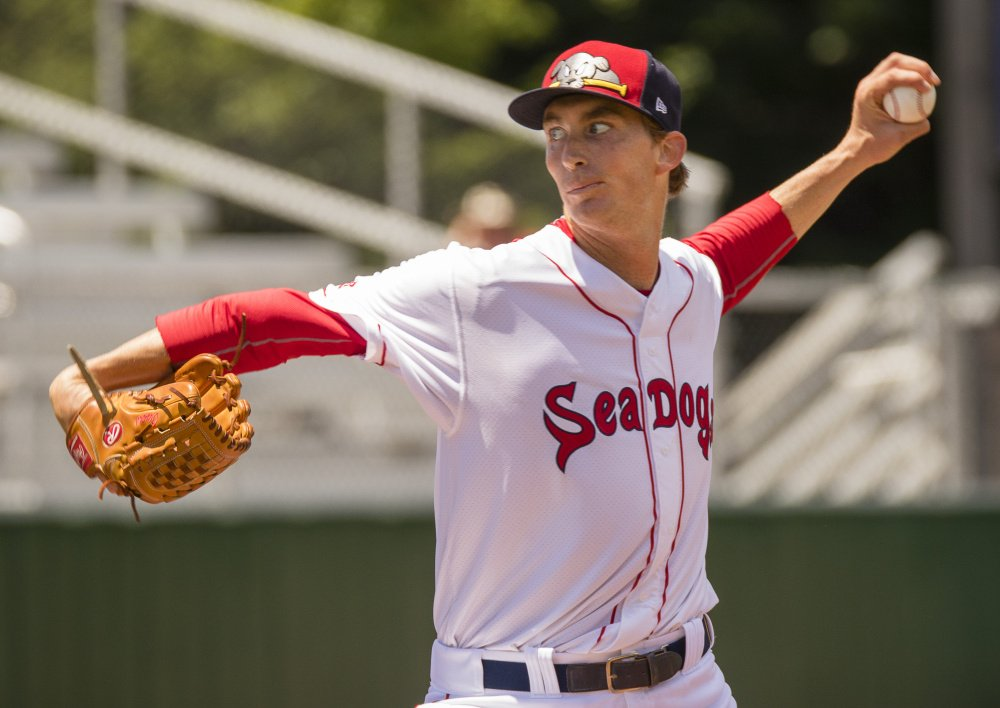 Left-hander Henry Owens, shown during a July 9 start at Hadlock Field, pitched for the Sea Dogs last season after being sent down from Triple-A Pawtucket to work on his arm slot. The Red Sox placed Owens on outright waivers on Wednesday according to multiple media reports, opening a spot on the team's 40-man roster.